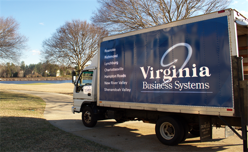 One of our delivery trucks at the Dominion Club in Richmond!