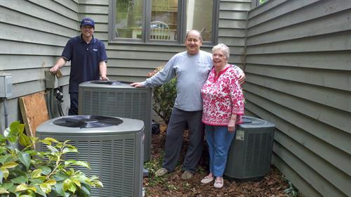 Heat pump installation.