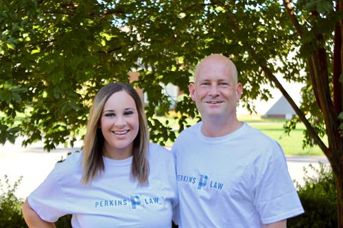 Perkins Law team, Keri Kelly and Eric Perkins