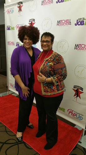 Kim Coles with me attending the PopUp Conference 12/8-9/2017