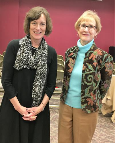 Janet Melton, Branch Manager of Goochland Branch Library, and Joanna Tilley, Friends Board member