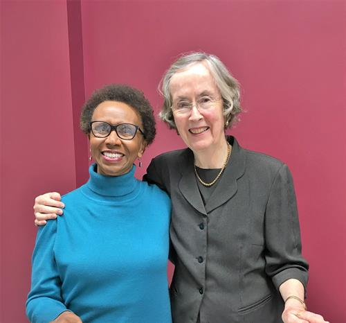 2018 Annual Meeting - Mary Lynn Bayliss, author and historian (on right), with Board member, Mary Turner-Day