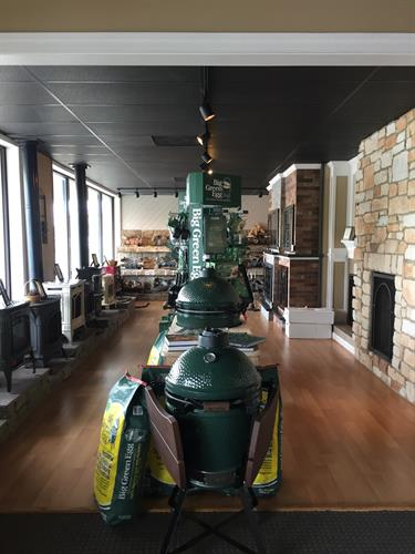 Come visit our showroom for all your Big Green Egg needs!