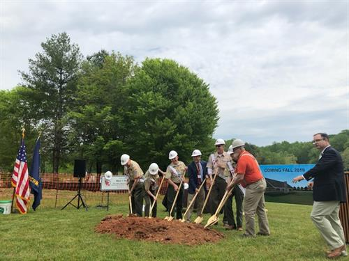 Boy Scouts Ground Breaking