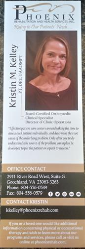 Kristin Kelley, Physical Therapist