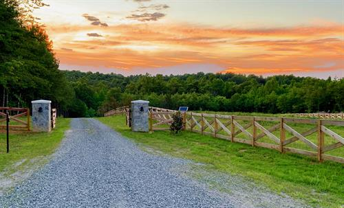 Front gate at sunset