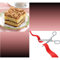 Azria Health Regency Square Coffee Cake with a side of Ribbon Cutting