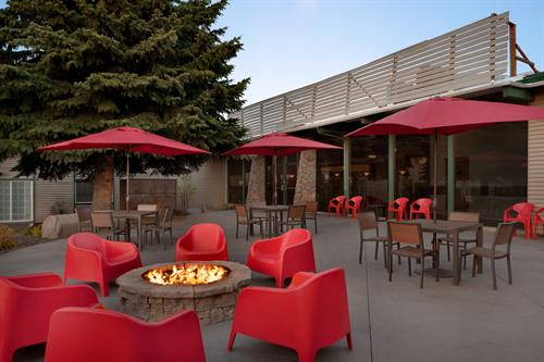 outdoor fire pits group gathering areas