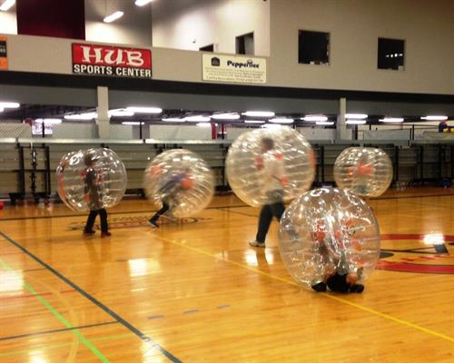 HUB BubbleBall games, team building and birthday parties