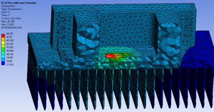 Thermal analysis: Thermal FEA  Laser thermal management