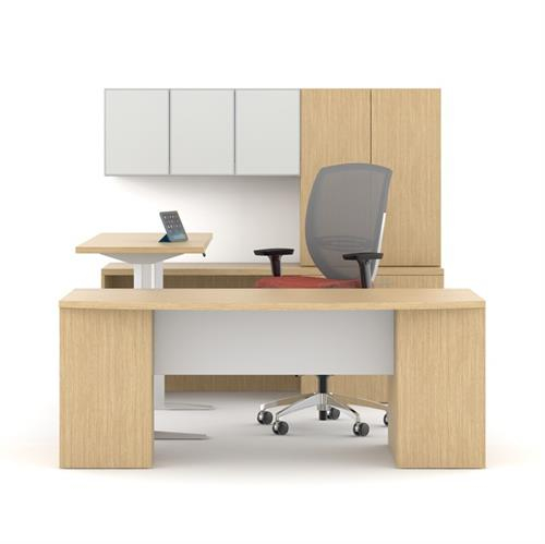 Height adjustable tables and desks
