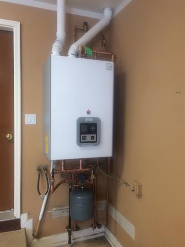 Traingle Tube Prestige Boiler Installation for a residential customer
