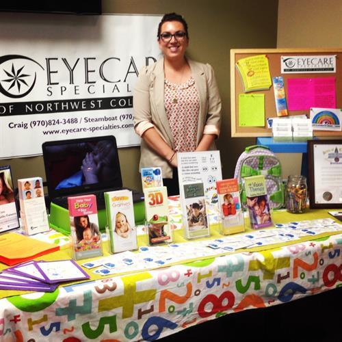 Our vision therapist, Melanie Kilpatrick