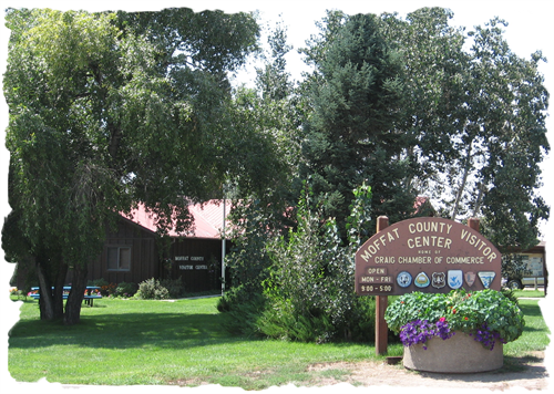 The Craig Chamber of Commerce & Moffat county Visitor Center are located at 360