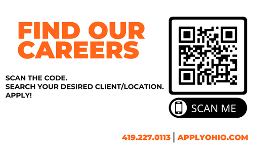Scan our QR code and check out all of our careers!
