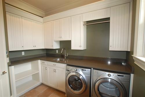 Laundry Room w/ V-groove Door