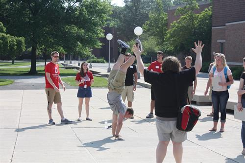 Ohio State Lima student ice breaker during a summer orientation