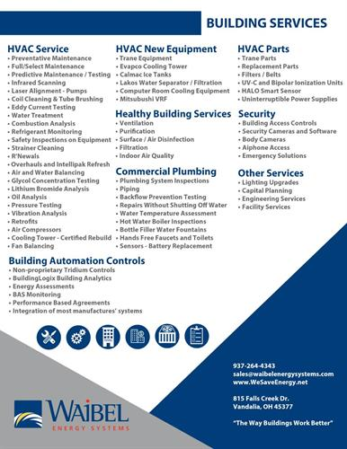 List of Services Waibel Offers