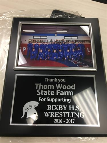Supporting Bixby Wrestling Team