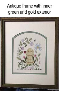 We frame and stretch your needlework