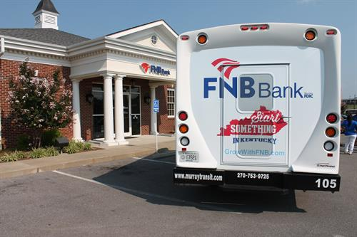 FNB proudly sponsors a Murray Transit Bus in Murray, KY.