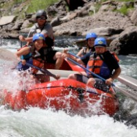 This is whitewater rafting on the Truckee River!