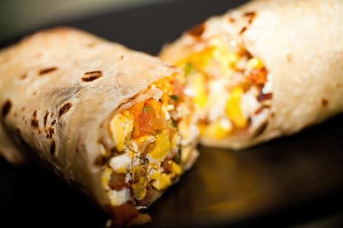 Breakfast Burritos b/t 11am-12pm