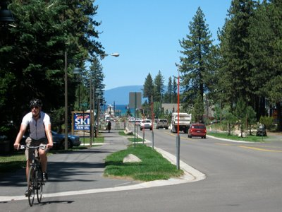 Only a few blocks from the Lake. Drop in for lunch on your bike ride.