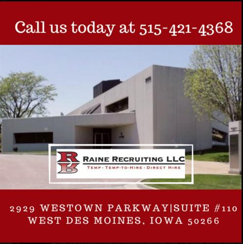 Raine Recruiting LLC | Employment/Agencies & Staffing