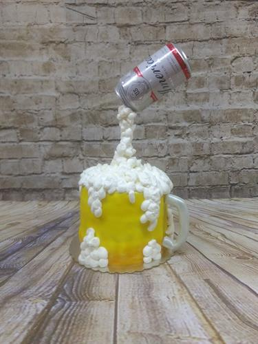Beer Cake, Perfect for Birthdays