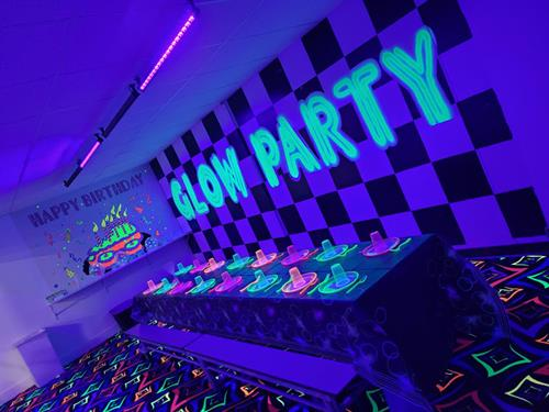 Glow Room Party Room