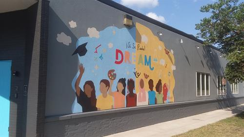 DREAM Mural outside Conmigo Early Education Center