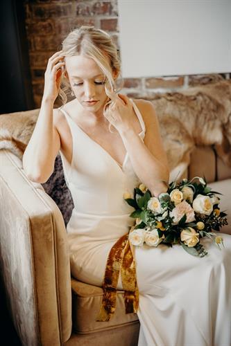 Lavender Blue Floral wedding bouquet