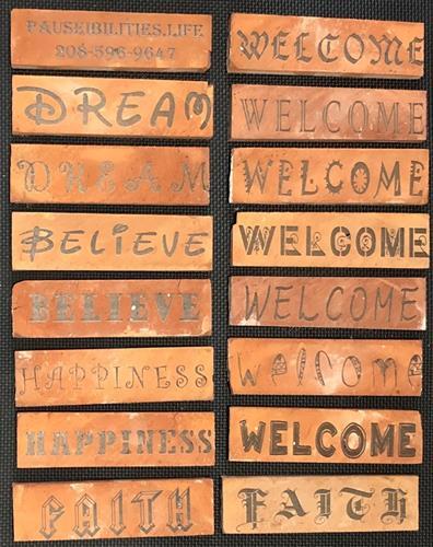 Inspirational brick veneer