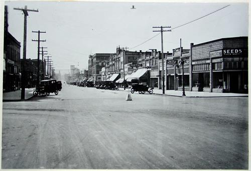 Zions Bank Location 1920's 1st and Main Street - Photo Provided by Latah County Historical Society