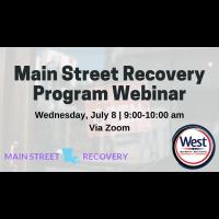 Main Street Recovery Program - Webinar