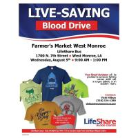 Blood Drive at Farmer's Market West Monroe