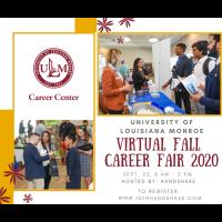 Virtual Fall Career Fair 2020 - ULM