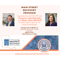 Main Street Recovery Program - With Mayor Mitchell and Treasurer Schroder