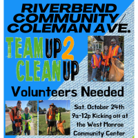 Riverbend Community & Coleman Ave Team Up 2 Clean Up