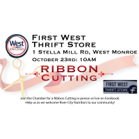 Ribbon Cutting - First West Thrift Store