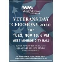 City of West Monroe Veterans Day Ceremony 2020