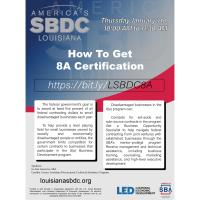 SBDC Event - How to get 8a Certification