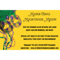 Mardi Gras Mask-erade Mixer for New Members