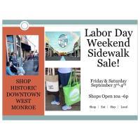 Labor Day Weekend Sidewalk Sale - Downtown West Monroe