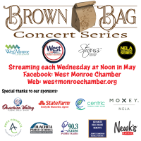 West Monroe Brown Bag Lunch Concert Series to be held in May