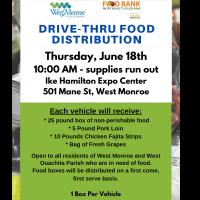 City of West Monroe Hosting Food Box Distribution June 18