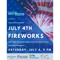 Independence Day Fireworks scheduled for Saturday, July 4