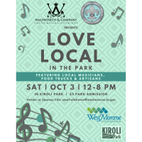 City of West Monroe to host Love Local in the Park Oct. 3 at Kiroli Park