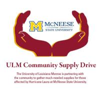 ULM Community Supply Drive - collecting items for McNeese hurricane recovery